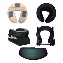 Têtière de tables de massage - structure, coussin, accoudoir ou kit complet.