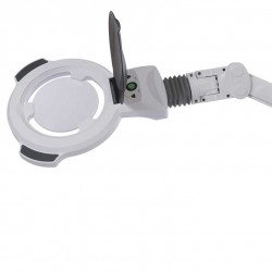 Lampe Loupe 5 dioptries LED Etau ou Pied à roulettes